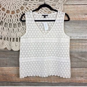 Banana Republic Lace Oversized Shell Tank Top